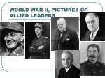 world war ii pictures of allied leaders