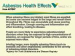 asbestos health effects from astdr