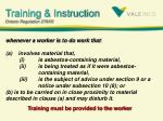 training instruction ontario regulation 278 05