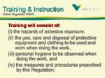training instruction ontario regulation 278 051