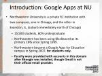 introduction google apps at nu