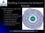 building consenus for inclusive schools