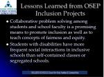 lessons learned from osep inclusion projects2