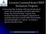 lessons learned from osep inclusion projects3
