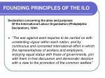 founding principles of the ilo