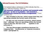 informal economy the ilo definition
