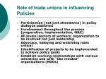 role of trade unions in influencing policies
