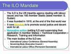 the ilo mandate