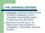the japanese defense
