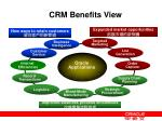 crm benefits view