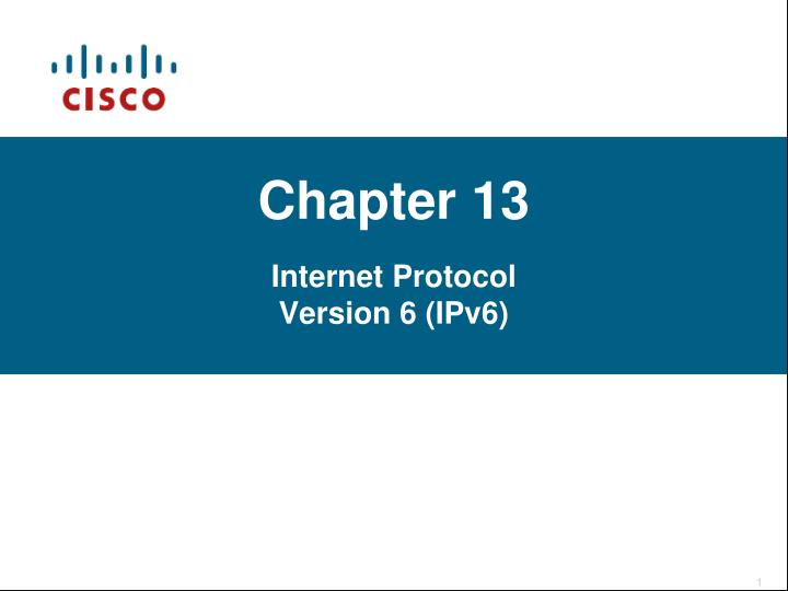 chapter 13 internet protocol version 6 ipv6 n.