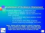 definition of evidence statement