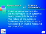 measurement evidence statements