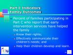 part c indicators family outcomes