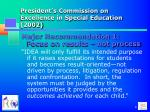 president s commission on excellence in special education 2002