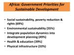 africa government priorities for sustainable development