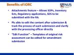 benefits of iorc2