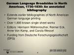 german language broadsides in north american 1730 1830 an annotated bibliography
