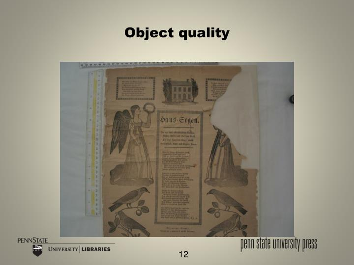 Object quality