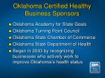 oklahoma certified healthy business sponsors
