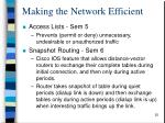 making the network efficient1