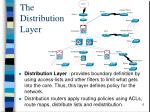the distribution layer