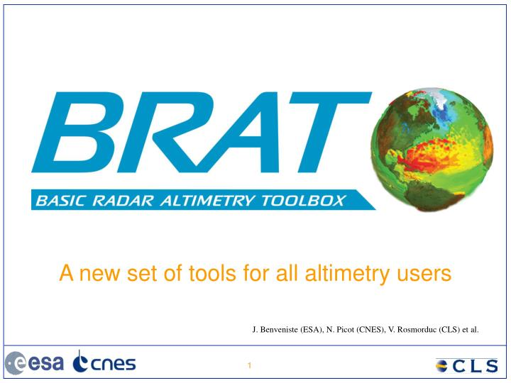 a new set of tools for all altimetry users n.