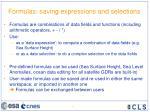 formulas saving expressions and selections