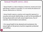 sexual health who 2002