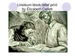 linoleum block relief print by elizabeth catlett