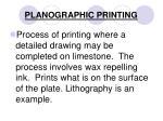planographic printing