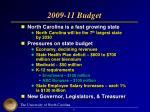 2009 11 budget