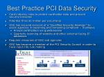 best practice pci data security