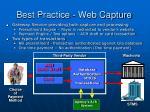 best practice web capture