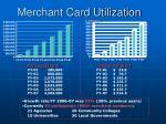 merchant card utilization