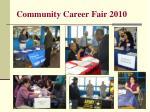 community career fair 2010