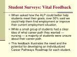 student surveys vital feedback