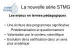 la nouvelle s rie stmg5
