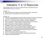 indicators 11 12 resources