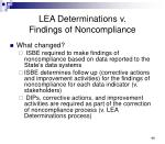 lea determinations v findings of noncompliance1