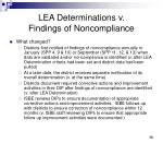 lea determinations v findings of noncompliance2
