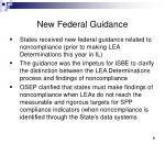 new federal guidance