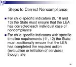 steps to correct noncompliance1