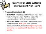 overview of state systemic improvement plan ssip