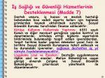 sa l ve g venli i hizmetlerinin desteklenmesi madde 71