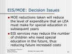 eis moe decision issues