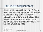 lea moe requirement