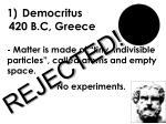 democritus 420 b c greece