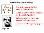 democritus conclusions