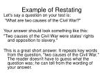 example of restating